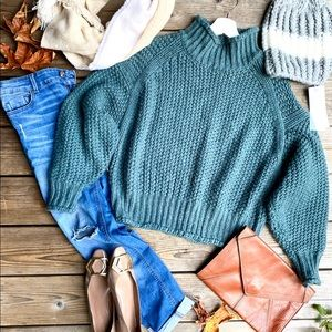 Massimo Dutti jeans and H&M sweater set